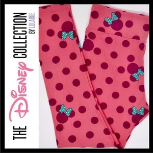 LuLaRoe Disney Collection Minnie Mouse TC Leggings
